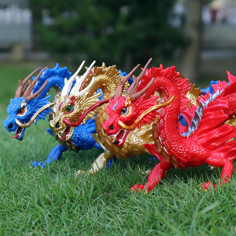 Image 2 - Oenux Original Simulation Chinese Dragon Phoenix Red Peacock Action Figures Bird Pvc Lifelike Figurines Education Kids Toy Gift-in Action & Toy Figures from Toys & Hobbies