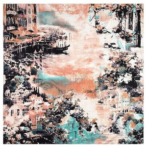 Image 3 - 2020 New Winter Scarf Van Goghs Oil Painting Luxury Brand Twill Silk Wholesale Square Scarf Kerchief Shawl Scarves For women