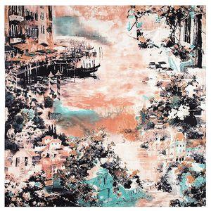 Image 3 - 2020 Nieuwe Winter Sjaal Van Gogh Olieverf Luxe Merk Twill Zijde Groothandel Vierkante Sjaal Hoofddoek Sjaal Sjaals Voor vrouwen