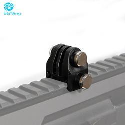 Accesorios de fotografía para caza montaje en riel Picatinny de 20mm adaptador de pistola Airsoft Rifle láser para GoPro EKEN OSMO Action cámara de caza