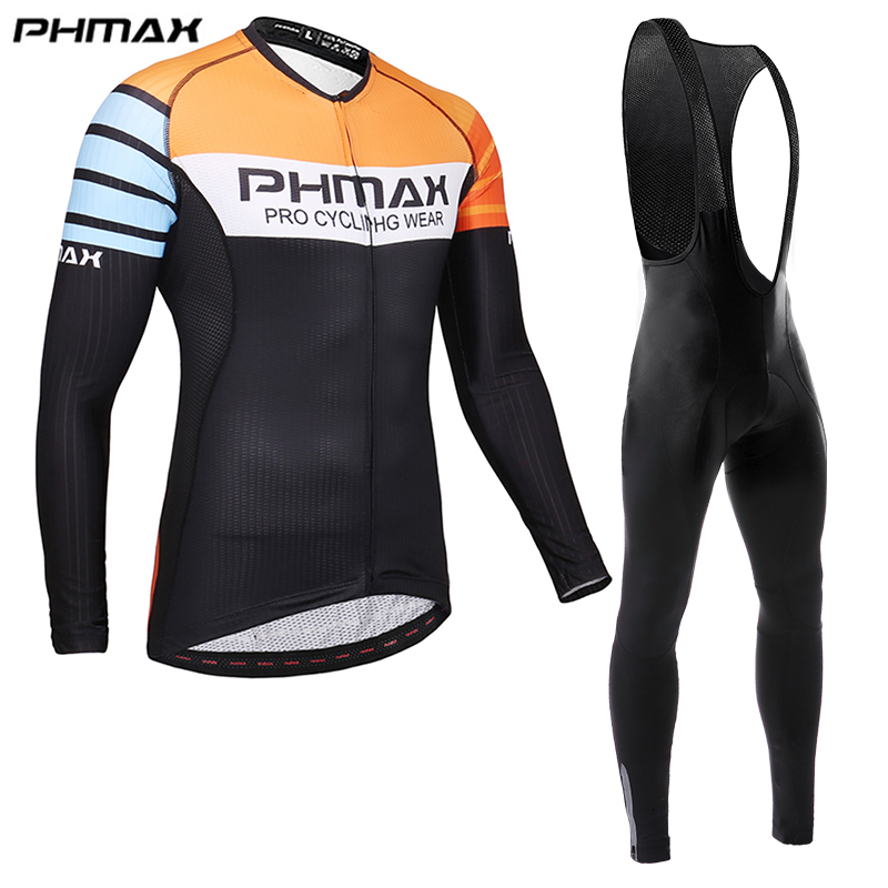 PHMAX Pro long sleeve cycling jersey men MTB bicycle Clothes Anti-UV Wear long Sleeve inter jersey Cycling Suit fall