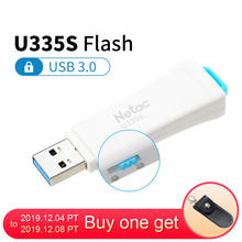 Netac U335S USB 3.0 Write Protected Flash Drive White 16GB 32GB 64GB USB3.0 Flash Disk Encrypted 16 32 64 GB Pendrive U Stick(China)