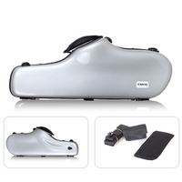 Portable Alto Saxophone Bag Shoulder Hand Carry Bag for Musical Gifts Silver