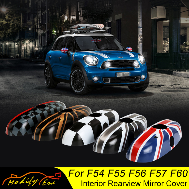 Car Interior Rearview Mirror Cover Shell Housing For MINI Cooper F54 F55 F56 F57 F60 Clubman Countryman Car Styling Accessories