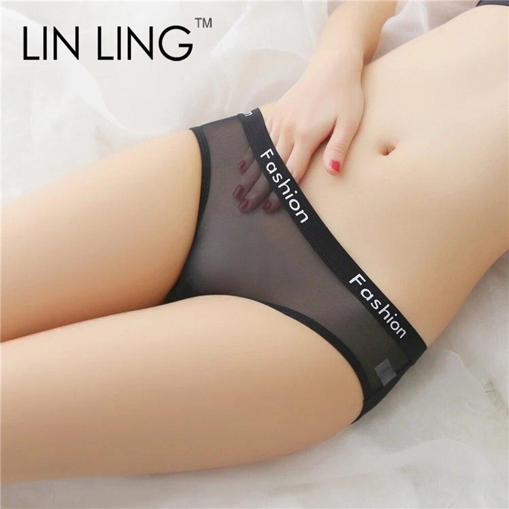 Mutandine a rete Sexy intimo trasparente donna vita bassa allettante Lingerie slip da donna estate nuovo arrivo stile caldo