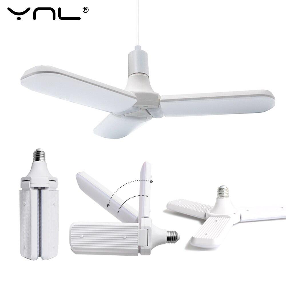 LED Lamp E27 LED Bulb AC 220V 45W Foldable Fan Blade Bulb Super Bright Angle Adjustable Lampada Led Light Bulb For Indoor Home
