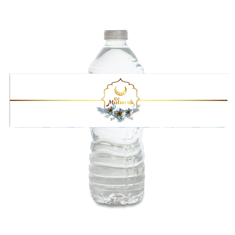 Eid Mubarak Water Bottle Labels Eid Labels Drink Wrapper Muslim Theme Party Decoration Supplies