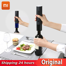 цена на Xiaomi Automatic red Wine Bottle Opener Stopper Kit Decanter Stopper Electric Corkscrew Foil Cutter Cork Out Tool