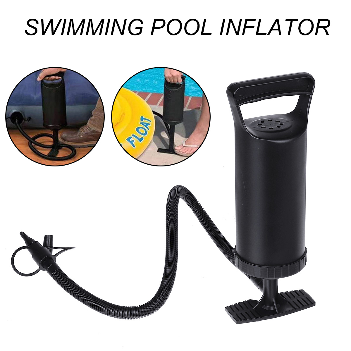 Portable Hand Air Pump Inflator Inflatable Bed Swimming Ring Pool Float Camping Mattress Manual Pump Swimming Pool Accessories