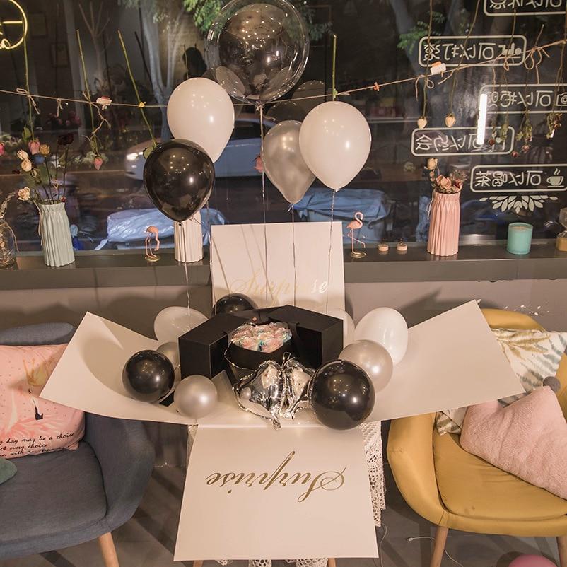 Tiktok Surprise Explosion Box Confession Balloon Box Proposal For A Girlfriend Birthday Cake Gift Flower Box