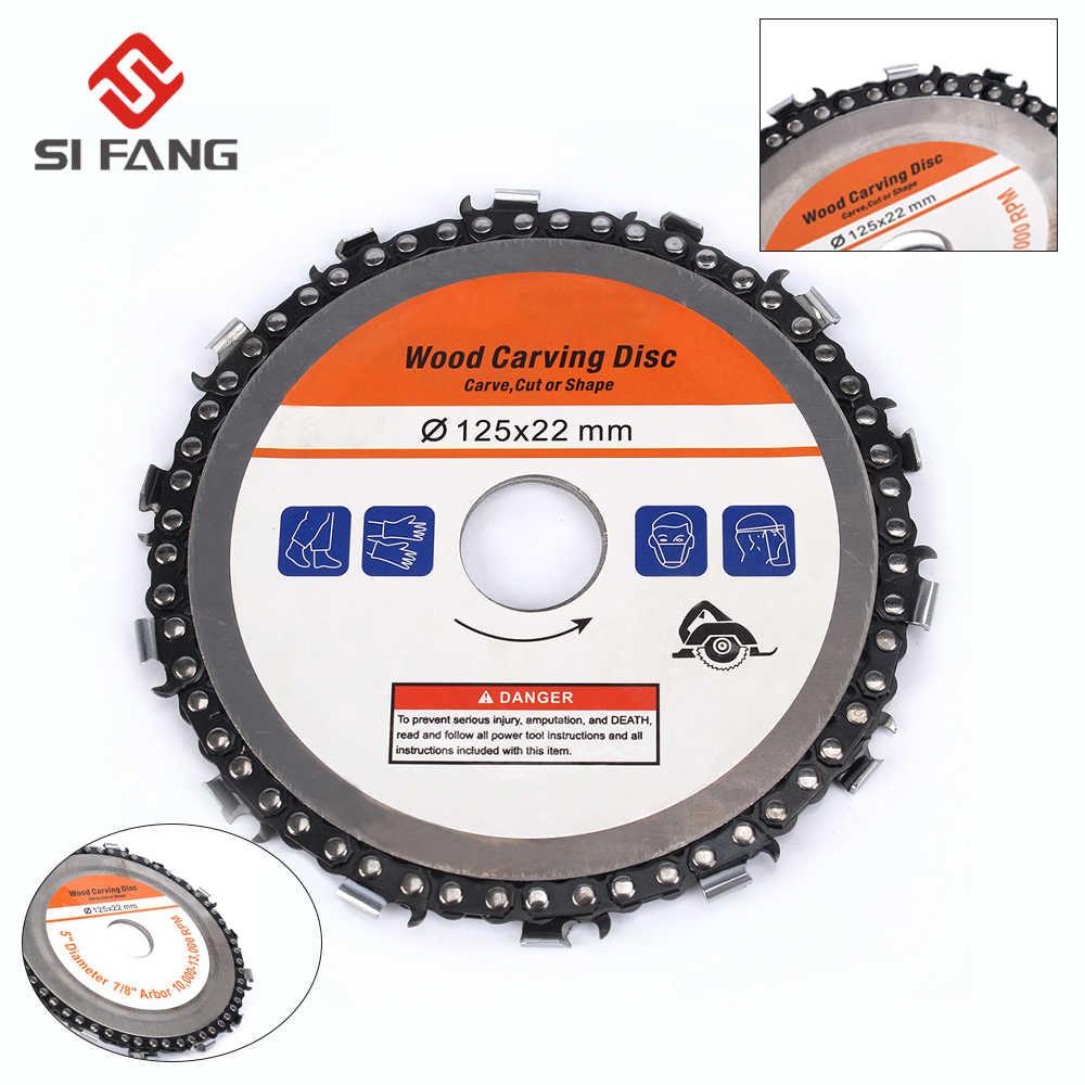 Color : 4 inch black diamond 4 pulgadas amoladora de disco circular de talla de madera hoja de sierra de disco y la cadena 22 dientes finos Shaping disco for los 100//115 mm Angle Grinder