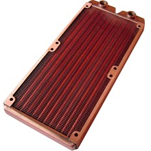 G1/4 Inch 240mm Full Purple Copper Radiator Water Cooling Radiator Suitable Computer Water Cooling Heatsink Fit for 120mm Fans 2(China)