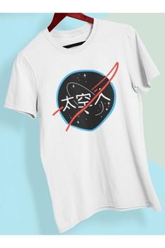 PLAYBACKMODA DESIGN ÇİNCE NASA koszulka z nadrukiem dla tanie i dobre opinie SHORT TR (pochodzenie)