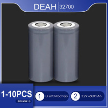 DEAH 1-10PCS LiFePO4 Battery 32700 3.2V 6500mAh 35A Continuous Discharge Maximum 55A High Power Batteries For Electric Vehicle