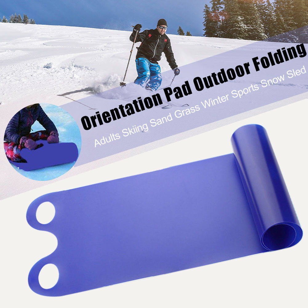 Outdoor Folding Roll Up Pad Snow Sled Winter Sports Anti Skid Sand Grass With Handle Thickened Toboggan Adults Skiing Heavy Duty