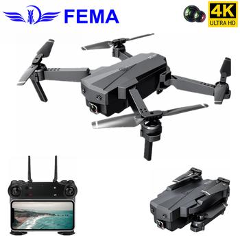 цена на FEMA Mini Drone with 4K WIFI FPV HD Dual Camera Optical Flow Foldable Quadcopter Rc Dron Gesture Control Kids Toy Gift VS E58
