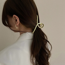 Claw-Clip Clamp Hairpin Hair-Accessories Party Metal Women for Jewelry Matte-Texture