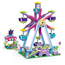 NEW Legoingly Friends Series Amusement Park Ferris Wheel Model Building Blocks Bricks Playgame Toys For Children Girls Toy Gifts lepin 15012 2478pcs city street ferris wheel model building kits blocks toy children gifts 10247