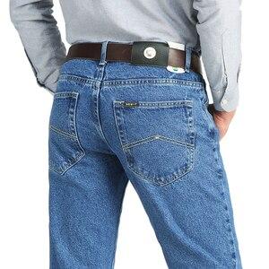 Image 1 - Calça jeans masculina clássica, para homens de negócios primavera outono verão, skinny stretch slim, 2019