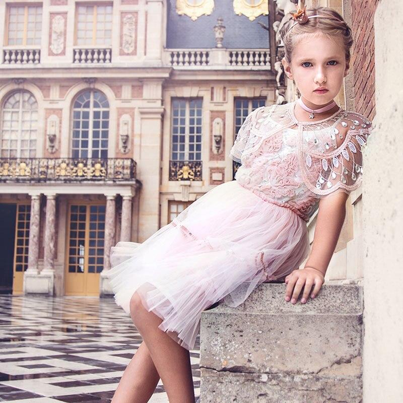 INS vent nouveau Style filles châle australie vent vêtements pour enfants robe formelle manteau châle industriel à la main perles manteau