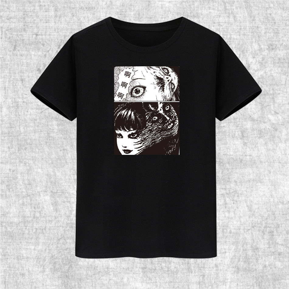 Junji Ito Collection Horror Another Face Tomie Brand Clothing 2019 Male Harajuku Top Fitness Funny T Shirt