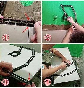 Image 5 - Sześciostronne narzędzie pomiarowe ze stopu aluminium szablon kątowy mechanizm narzędziowy slajdy z lokalizatorem otworów
