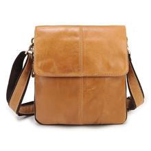 Мужская сумка мессенджер из натуральной кожи высокого качества