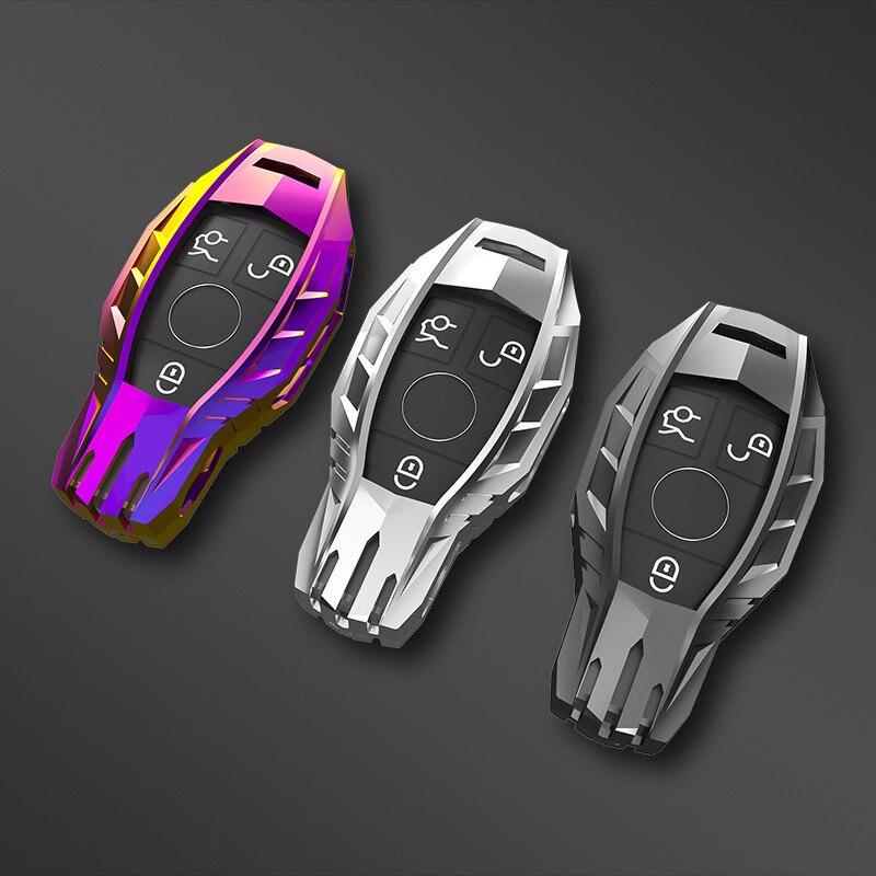 Caso chave do carro capa saco chave para mercedes benz a b c s classe amg gla glc cla w221 w204 w205 w176 acessórios titular chaveiro escudo