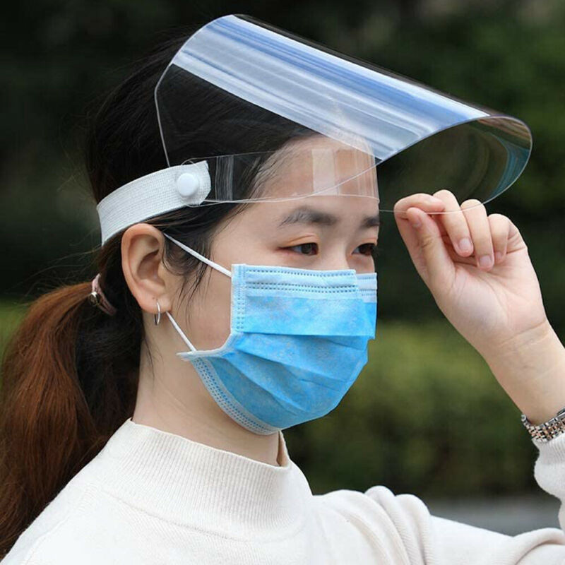 NEW Transparent Face Shield Anti-Fog Safety Isolation Breathable Protective Mask Protect Full Face Cover Mask Anti Saliva Visor