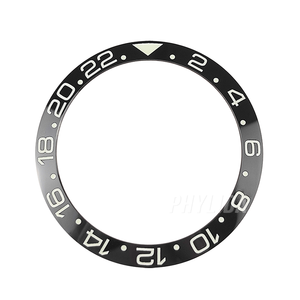 Image 2 - HOT 38mm Black Super Luminous GMT High Quality Ceramic Bezel Insert Ring Watch Bezel Fit GMT Watch SKX007/009 Replace