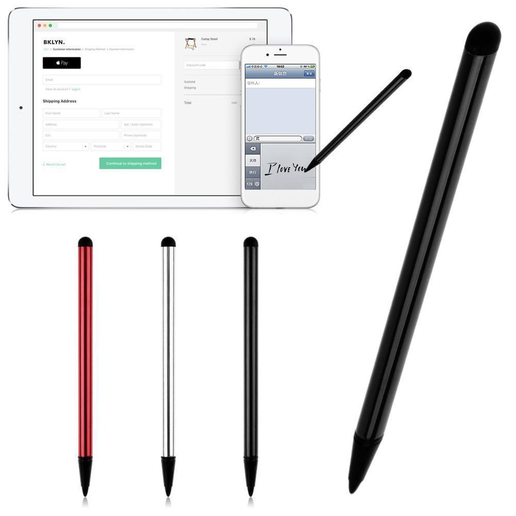 Navigation Mobile Phone Strong Compatibility Touch Screen Stylus Ballpoint Metal Handwriting Pen For Mobilephone