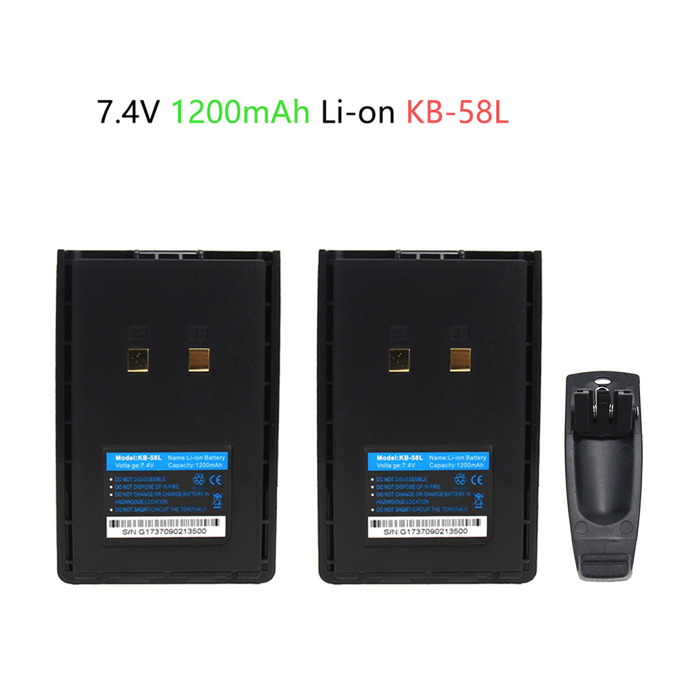 2X Two-Way Radio Battery For Kirisun KB-42A KB-58A KB58B KB58L KL-KB58B Li-Polymer 7.40V 1200mAh PT558 PT668 PT558S PT-558