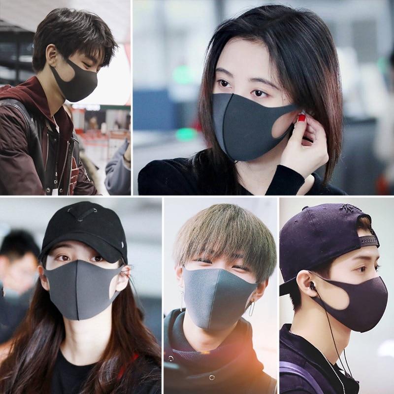 Image 3 - Fashion Face Mouth Mask Cotton Winter Warm Anti Haze Dust  Dustproof Washable Reusable Anime Cartoon Kpop Women Men Muffle  MasksWomens Masks