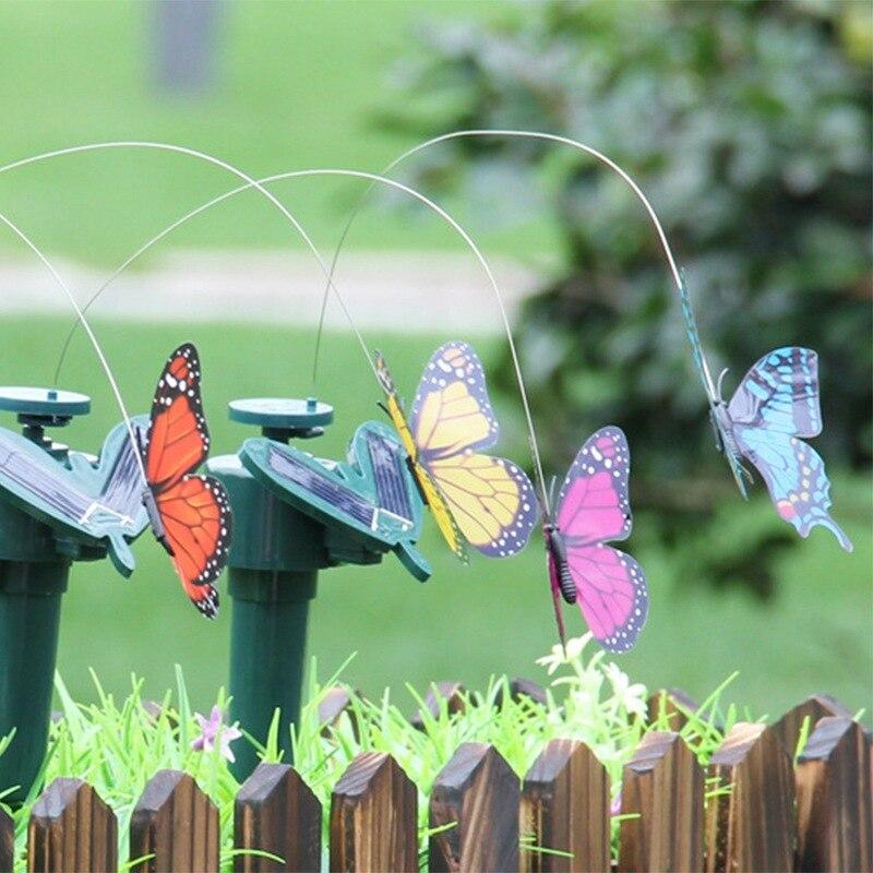 Lustige Solar Spielzeug Fliegen Flatternde Hummingbird Angetrieben Vögel Schmetterlinge für Garten Dekoration Tanzen solar spielzeug Q