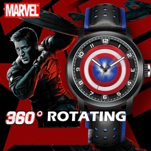 Watch Waterproof MARVEL Avengers Captain-America Montre Time-Clock Teen Sports Boy Super-Hero