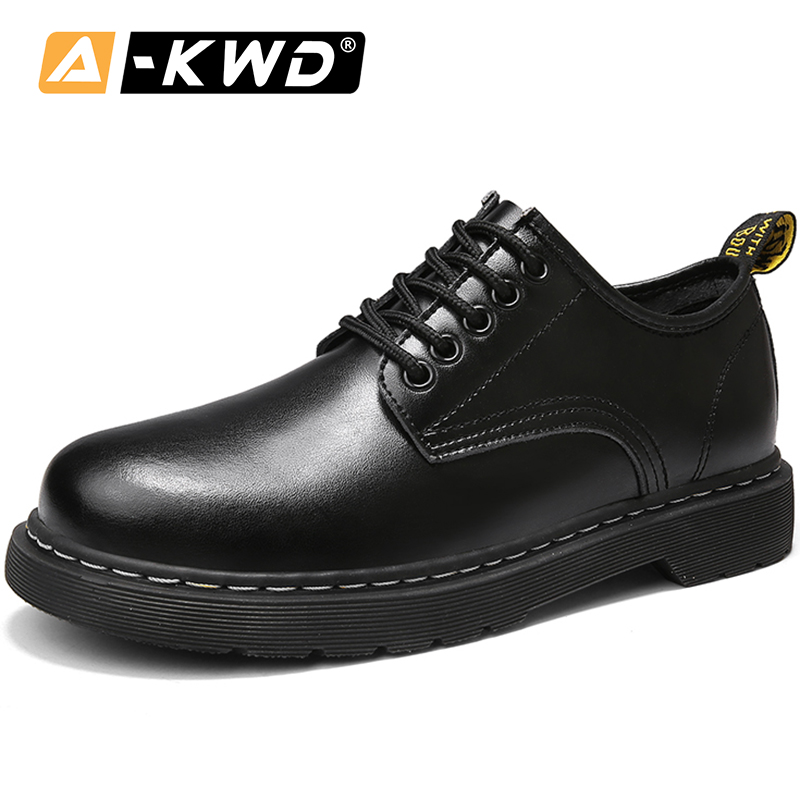 Men Boots Work-Shoes Lace-Up Split-Leather Casual Breathable Fashion Autumn Ankle 45-Footwear title=