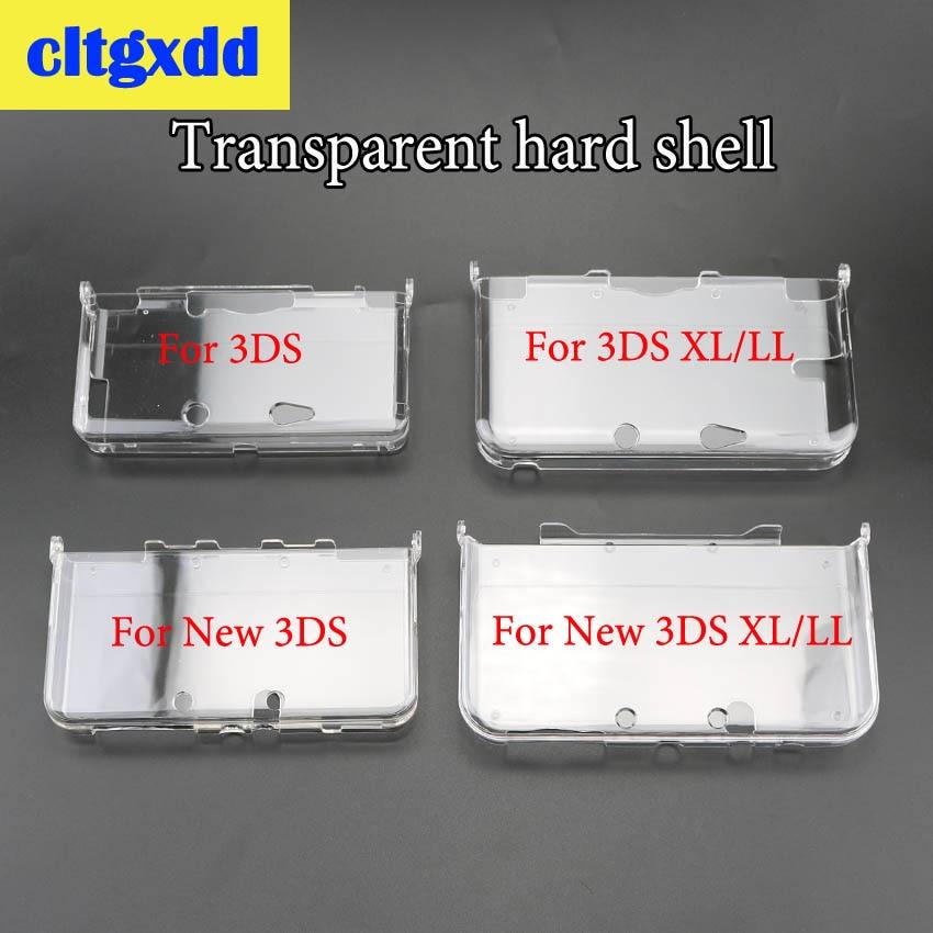 Cltgxdd en vrac en plastique transparent cristal protecteur coque rigide coque peau couverture pour Nintendo 3DS/nouvelle 3DS/nouvelle 3DS XL LL Console