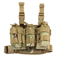 1000D Nylon Tactical Hunting Mag Pouch MOLLE Tactical Leg Platform Pouch for 7.62/9mm Cartridge 2019 Outdoor Airsoft Accessories