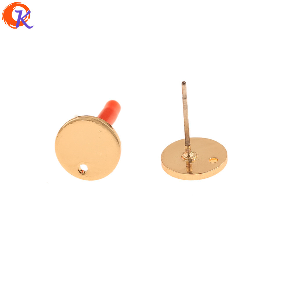 Cordial Design 50Pcs 9*9MM Jewelry Accessories/Hand Made/Round Coin Shape/Genuine Gold Plating/DIY Jewelry Making/Earrings Stud
