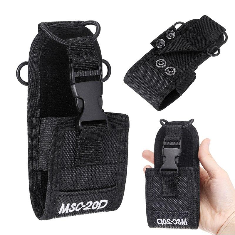 Portable MSC-20D Nylon Pouch Bag Walkie Talkie Carry Case For Baofeng Motorola Kenwood Radio Walkie Talkie Holster
