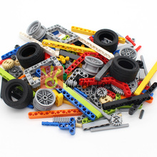 Technic Parts 250g Liftarm Beam Gear Cross Axle Frame Connector Pin MOC Technic Pieces Building Blocks Robot Toys
