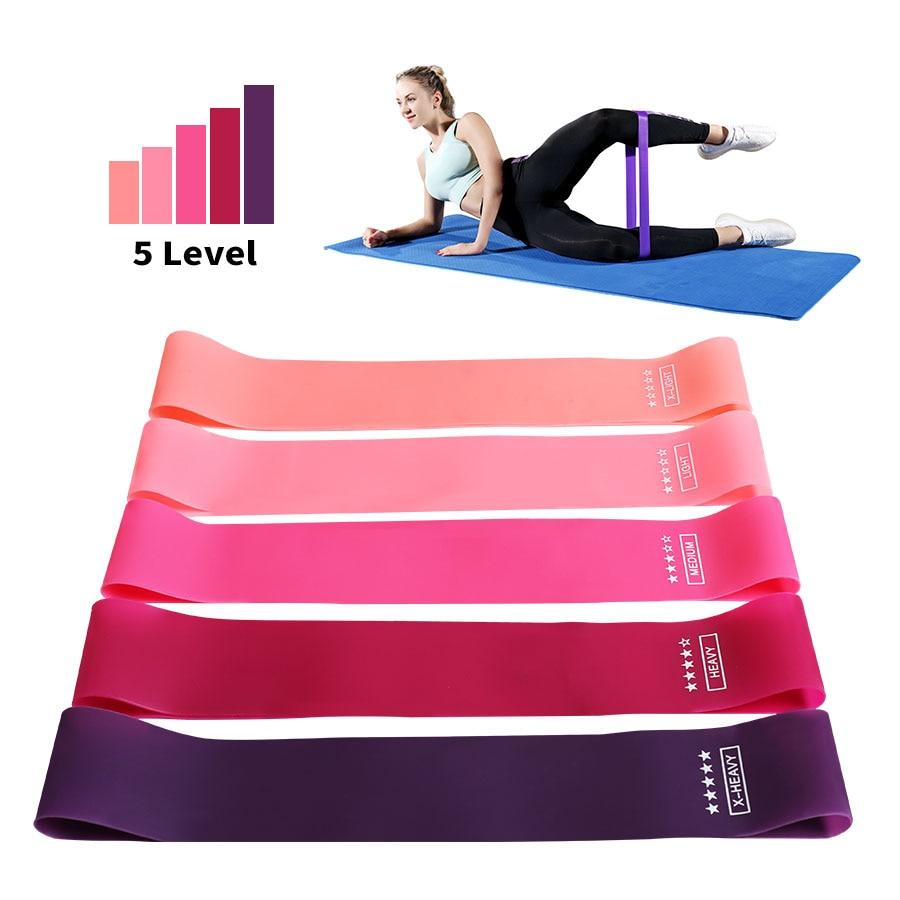 Eğitim spor sakız egzersiz spor salonu gücü direnç bantları Pilates spor kauçuk spor Mini bantları Crossfit egzersiz ekipmanları