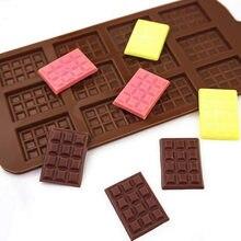 Silicone moule 12 même chocolat moule Fondant moules bricolage barre de bonbons moule gâteau décoration outils cuisine cuisson accessoires
