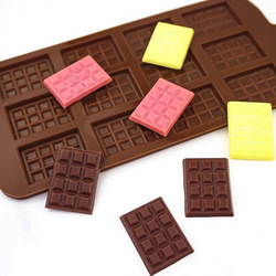 Silicone Mold 12 Even Chocolate Mold Fondant Molds DIY Candy Bar Mould Cake Decoration Tools Kitchen Baking Accessories