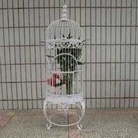 Creative European iron wedding decoration floor bird cage studio props hotel club gardening bird cage