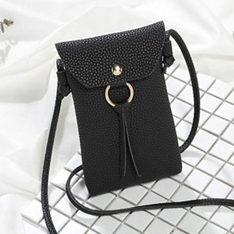 Women PU Leather Small Crossbody Purses For Girls Messenger Bag Mini Phone Bags Ladies Messenger Purse Handbags