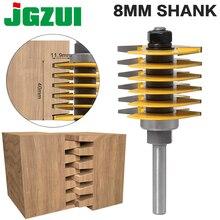 1 قطعة 8 مللي متر Shank12mm عرقوب العلامة التجارية الجديدة 2 الأسنان قابل للتعديل إصبع مشترك راوتر بت تينون القاطع الصناعية الصف للخشب أداة