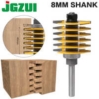 1 pieza 8mm Shank12mm vástago a estrenar 2 dientes junta de dedo ajustable broca cortador de tenones grado Industrial para madera herramienta