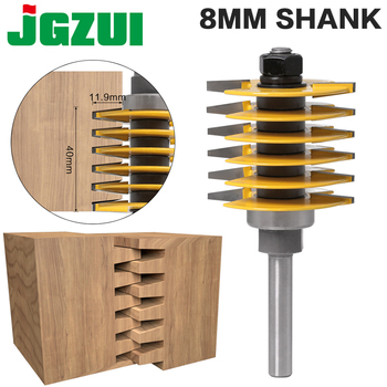 1pc 8mm Shank12mm shank Brand New 2 Teeth Adjustable Finger Joint Router Bit Tenon Cutter Industrial Grade for Wood Tool - discount item  50% OFF Machinery & Accessories