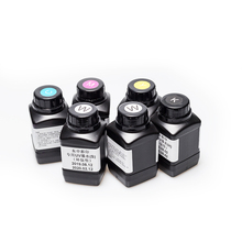 DOMSEM 250ML 6 Bottles a Lot UV Ink For Epson 1390 L800 1400 1410 1430 1500W R280 R290 R330 L1800 LED Printer (BK C M Y White)
